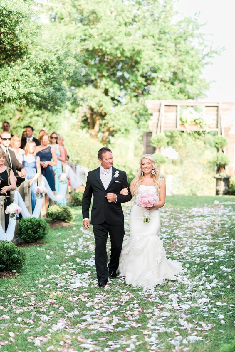 romantic blush wedding