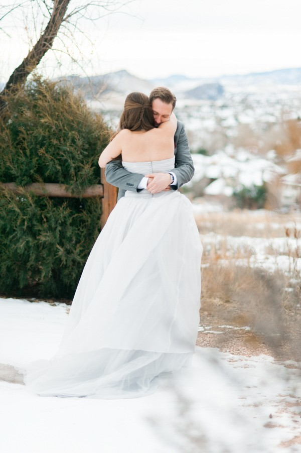 snow wedding
