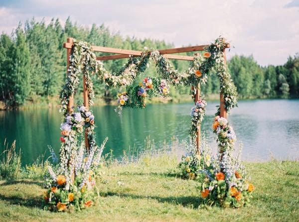 flower wedding arbors