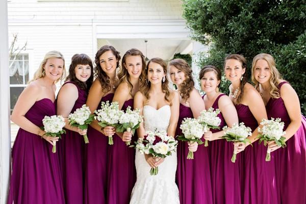 magenta wedding