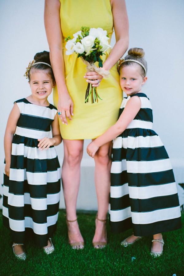 black stripe flowergirl dresses