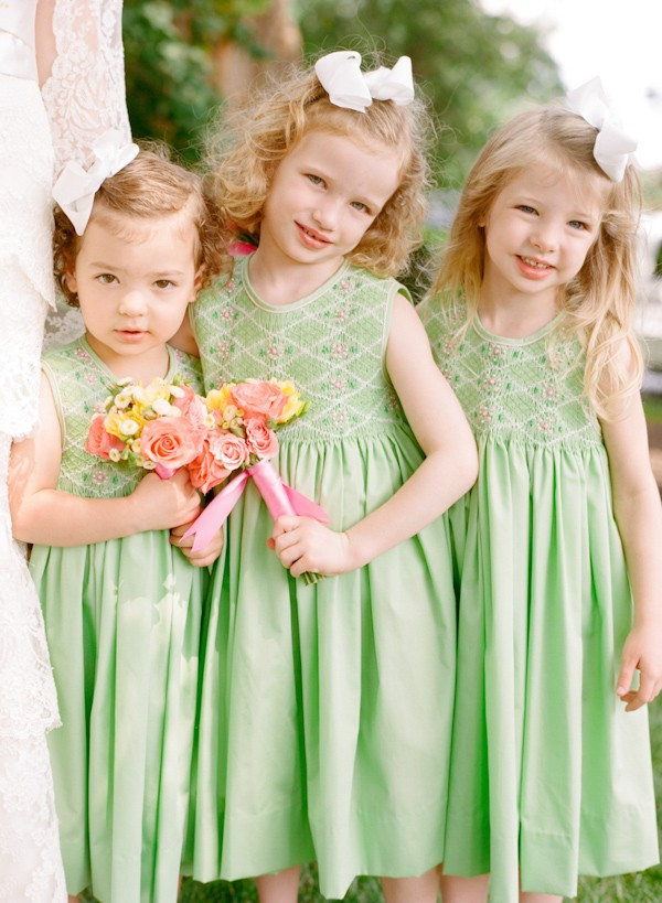 green flowergirl dresses