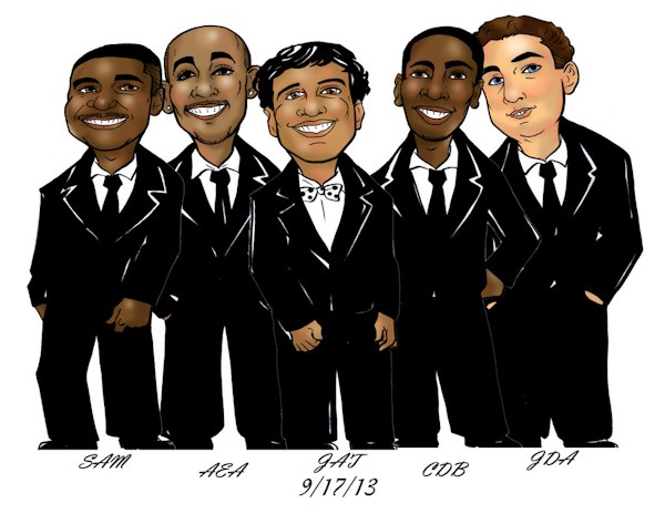 Groovy Groomsmen Gifts Caricature Giveaway — Destination