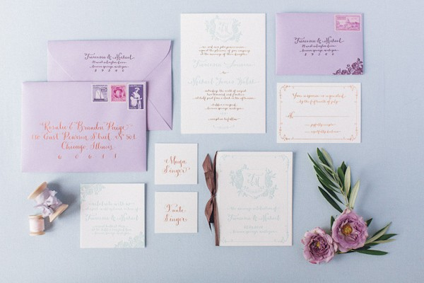 purple wedding invitation ideas trendy bride fine art wedding