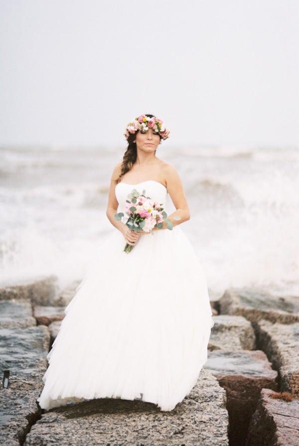boho beach bride