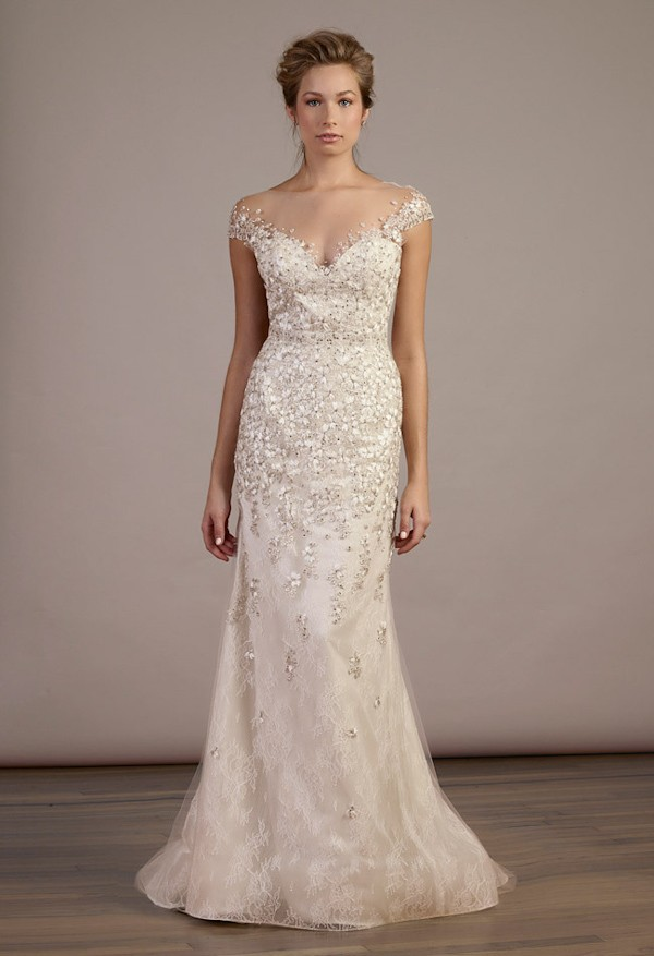 Blush Fitted Wedding Dresses
