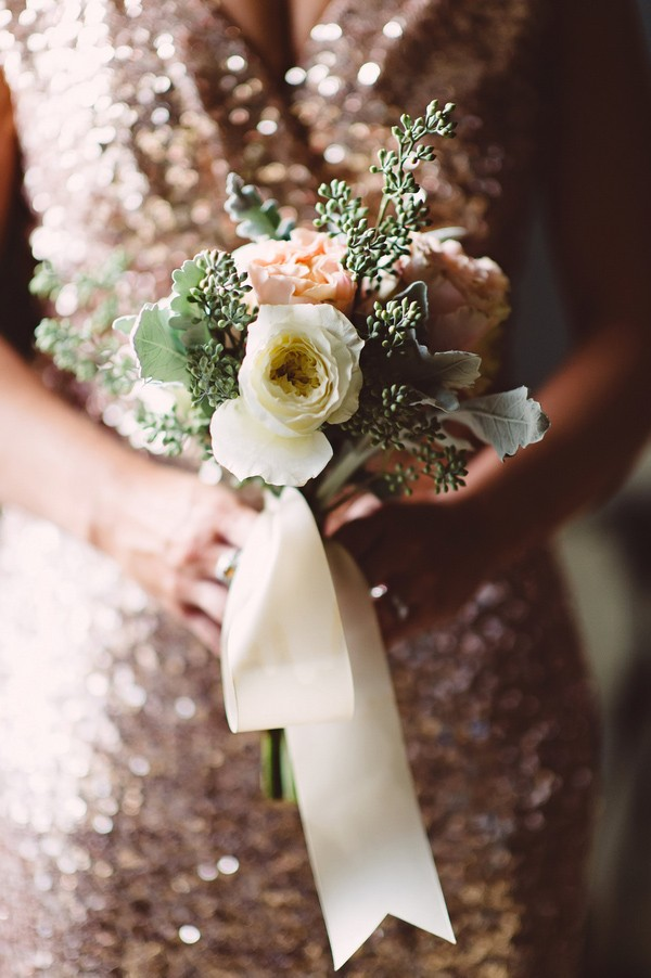 close of bridesmaid bouquet