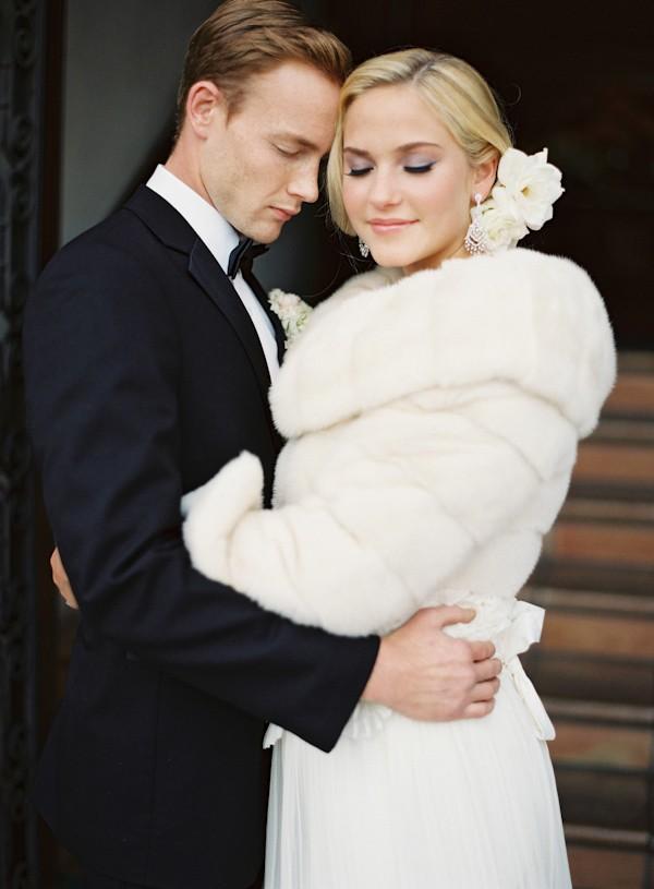 winter bride in fur