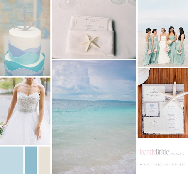 seaside wedding board