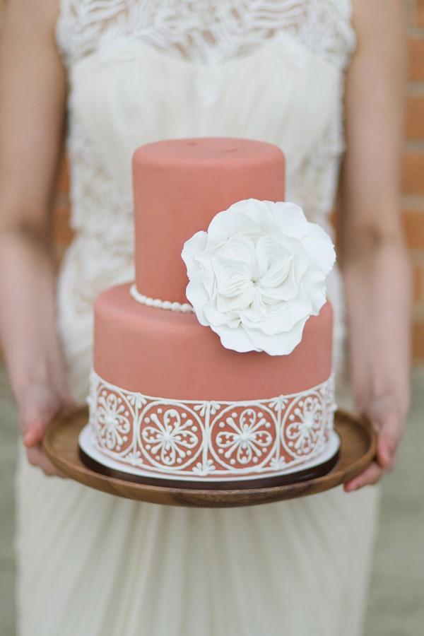 Square Wedding Cake Flower Icing Bottom