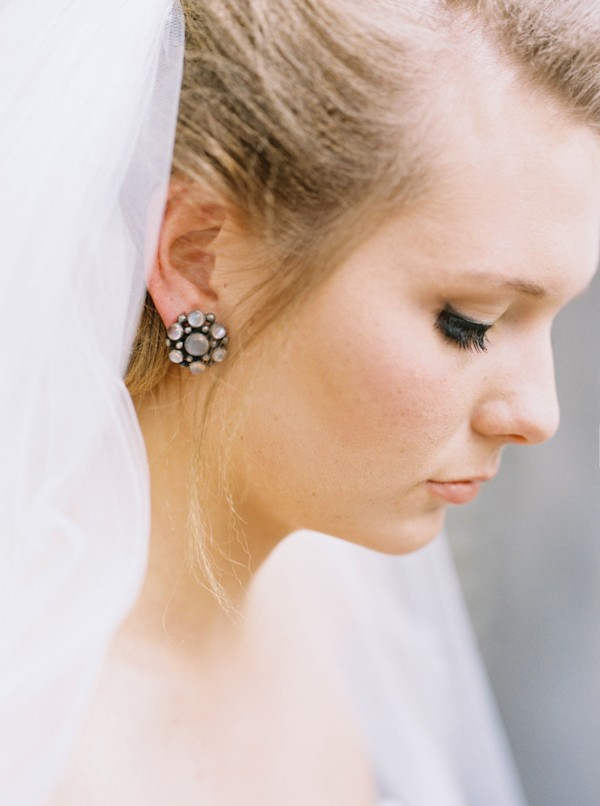 Large Stud Wedding Earrings
