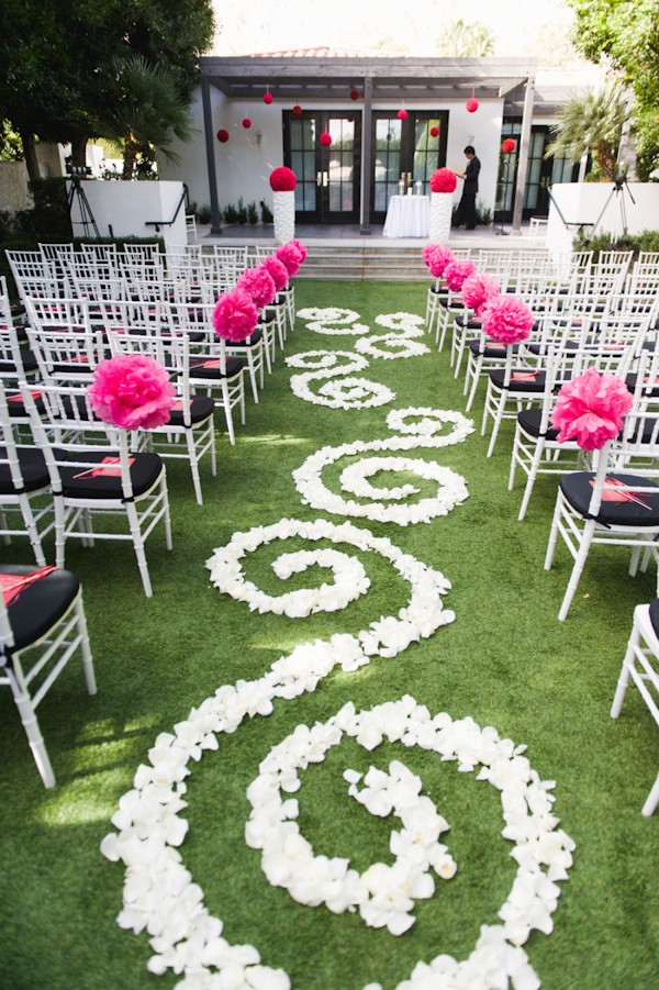 Flower Petals Down The Aisle — Trendy Bride - Fine Art Wedding ...