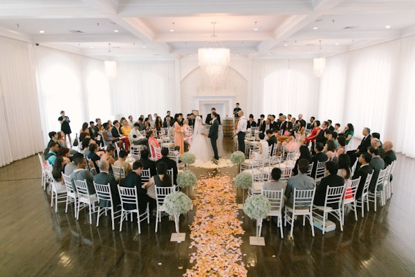 Flower Petals Down The Aisle Trendy Bride Fine Art Wedding Blog