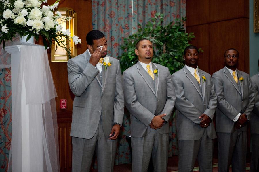 reaction of bride