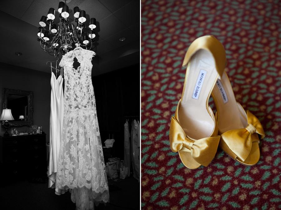mustard wedding shoes
