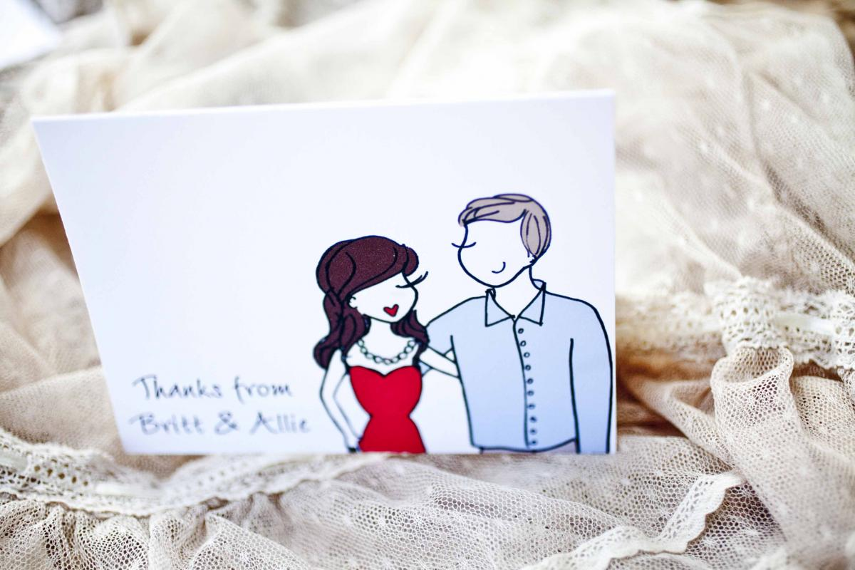 Illustrated Save the dates + Wedding Invitations — Trendy Bride ...