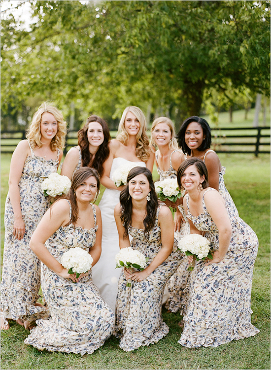 Floral Dress Ideas For Spring A Wedding Trendy Bride Fine Art Extraordinary Floral Pattern Bridesmaid Dresses