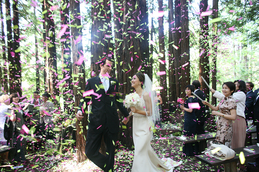 confetti at ceremony