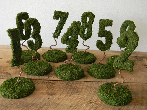 Unique Wedding Table Number Ideas — Trendy Bride - Fine Art ...