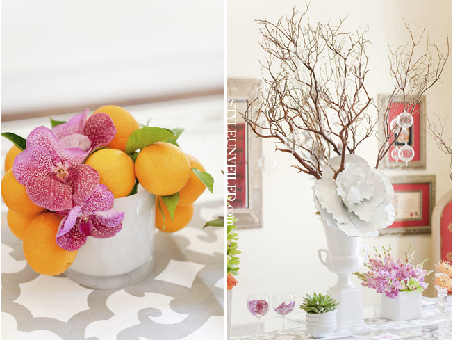 Citrus Wedding Reception Decor Ideas Trendy Bride Fine Art