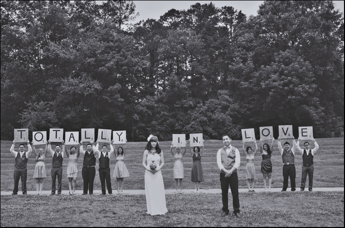 wedding scrabble signs