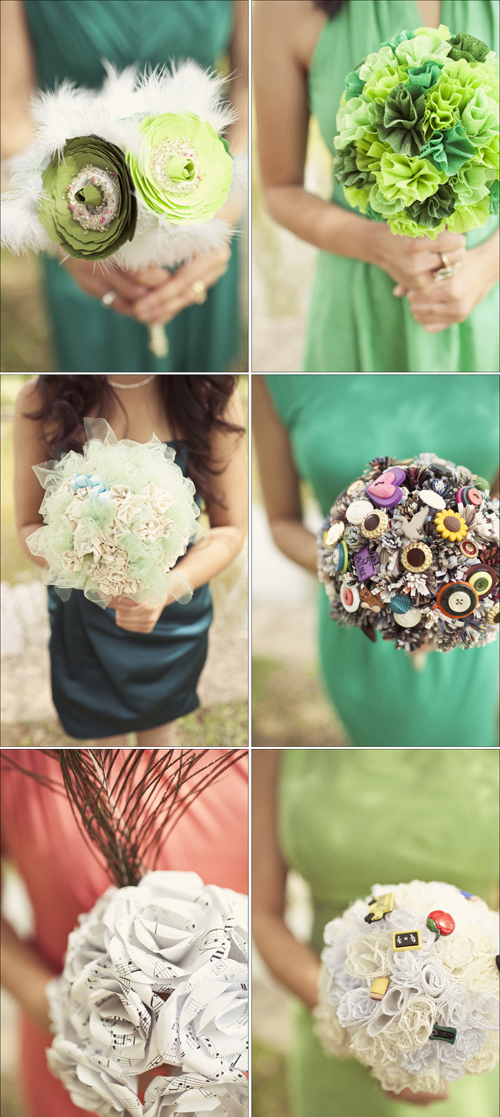 fabric wedding bouquets