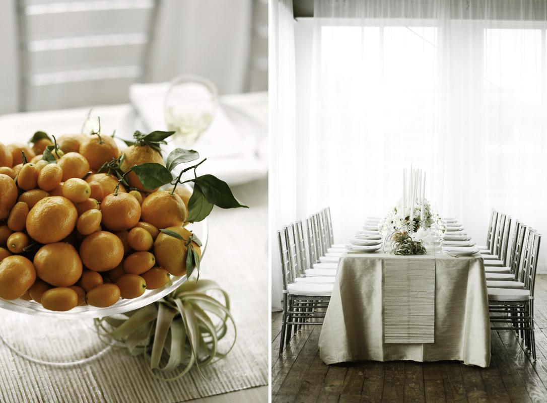 citrus wedding decor