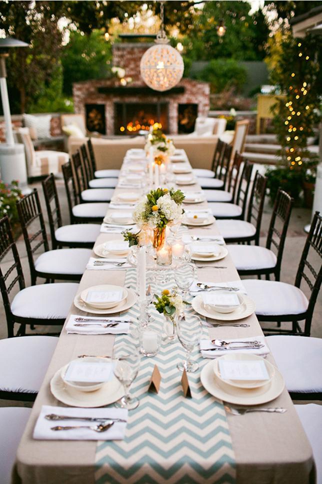 chevron wedding decor
