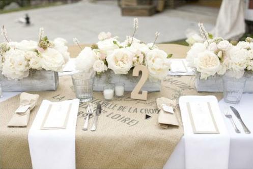 Burlap And Lace Inspired Wedding Decor Destination Wedding