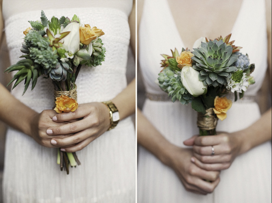 succulent wedding bouquet