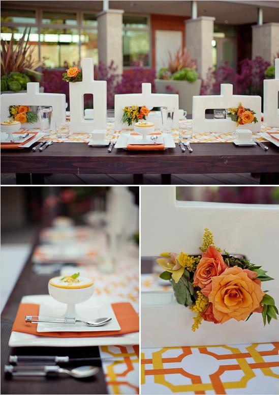 orange wedding ideas