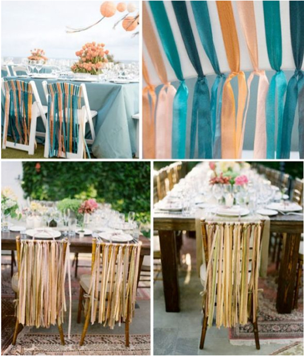 ribbon decor on chairs