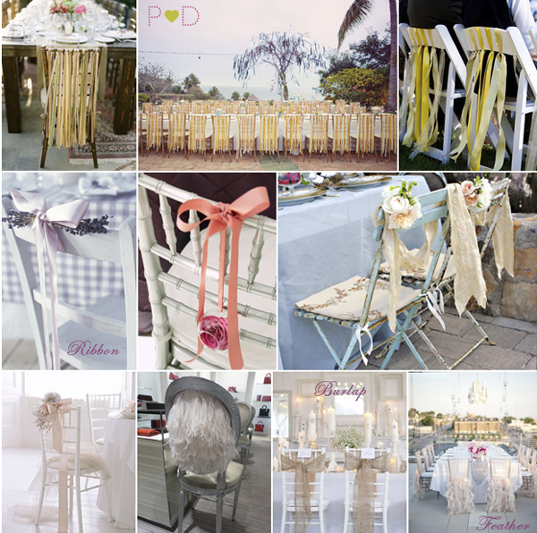 ribbon wedding decor