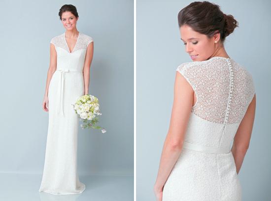 modern aline wedding dress