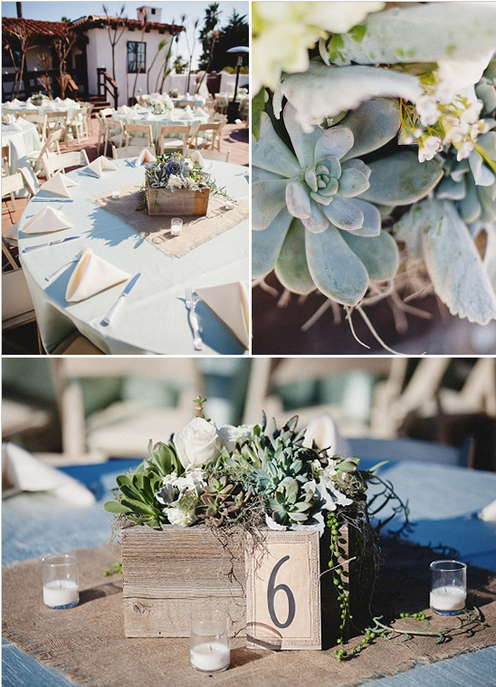 succulent wedding table setting