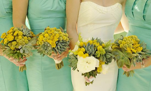 mint-green-bridesmaid-dresses-with-succulent-flowers.jpg