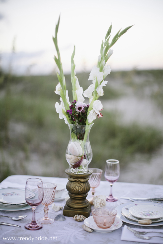 vintage beach wedding