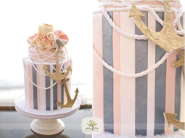 trendy-pink-and-gray-nautical-wedding-cake.jpg