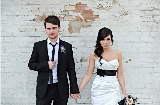 black sash wedding dress