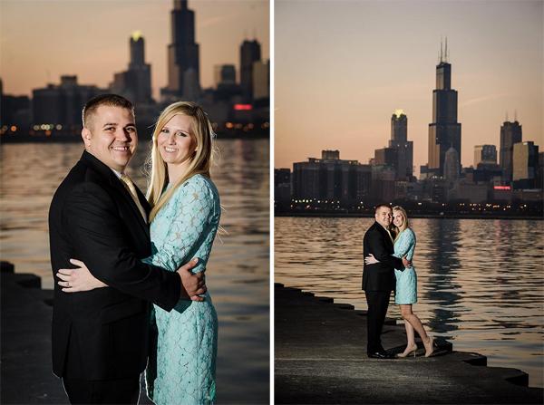 chicago illinois engagement shoot