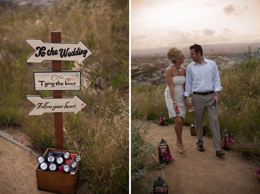 california styled wedding shoot
