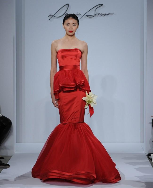 red dennis basso dress