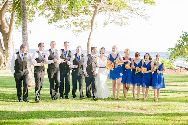 yellow and blue weddings