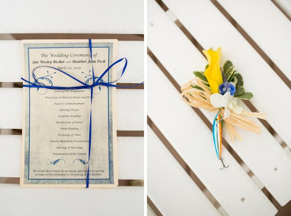 outer banks wedding program