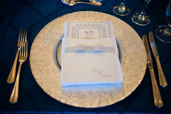 silver wedding plate