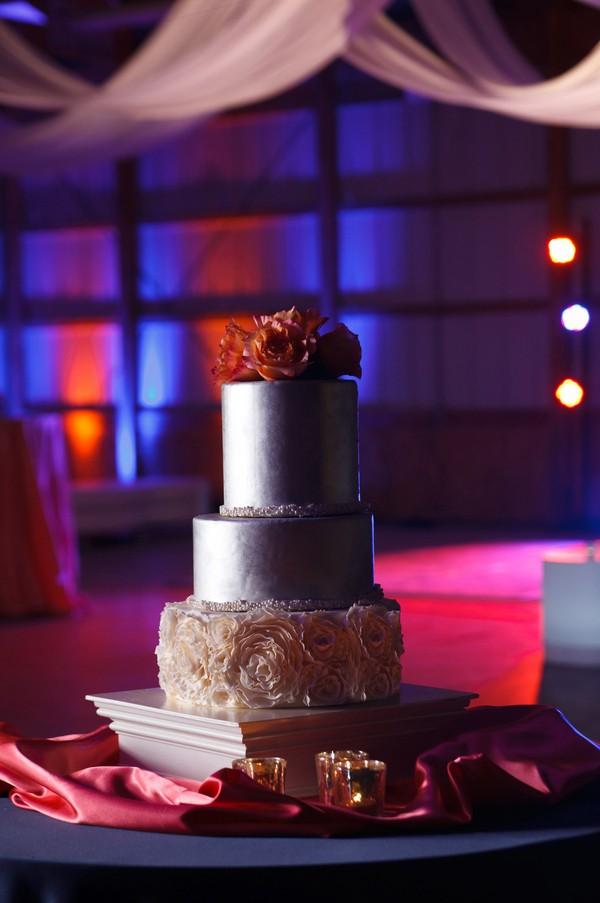 unique silver wedding cake