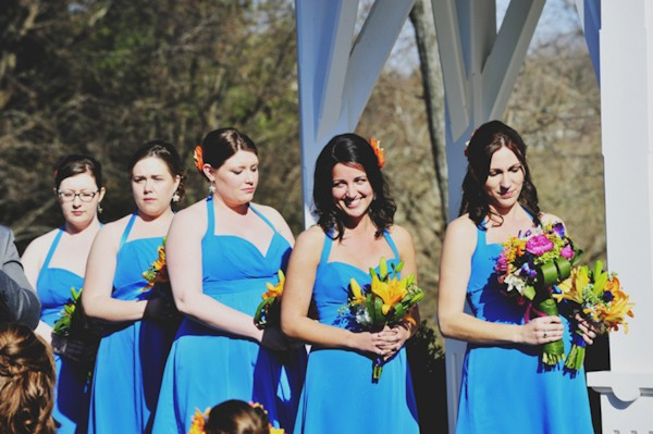 bridesmaids at alter