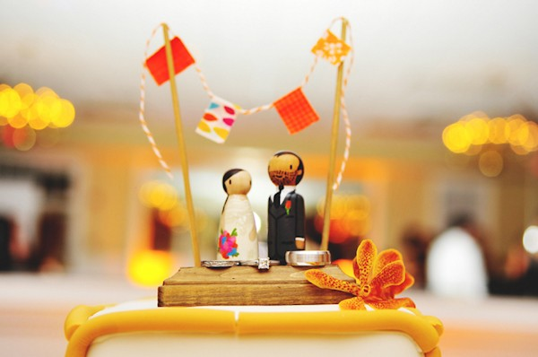 cute wood cake topper