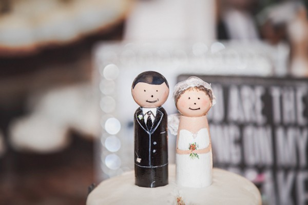 wooden figures cake toppers