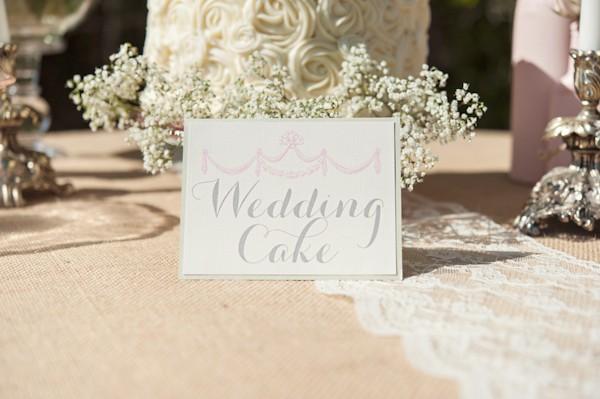 wedding cake sign